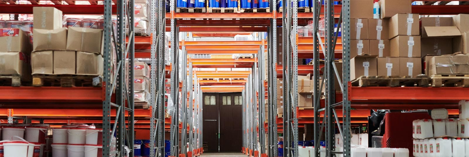 Internal image of a warehouse with racking